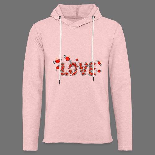Flying Hearts LOVE - Kevyt unisex-huppari