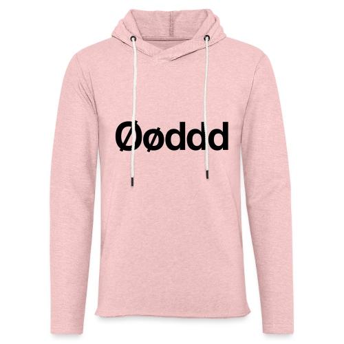 Øøddd (sort skrift) - Let sweatshirt med hætte, unisex