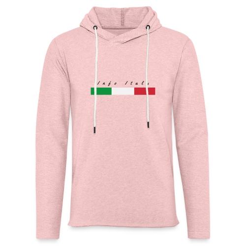 Info Italy Design - Felpa con cappuccio leggera unisex