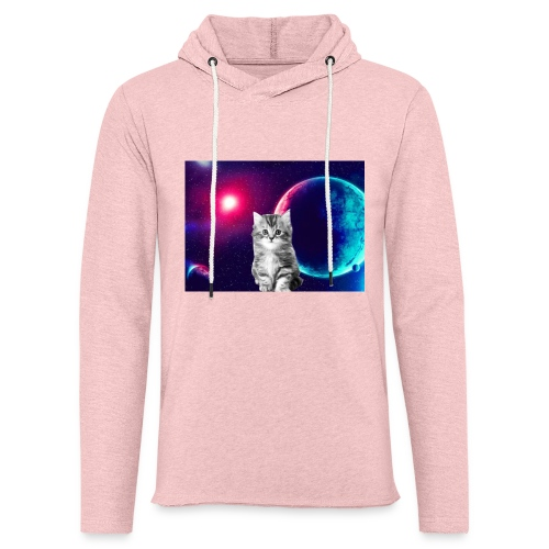 Cute cat in space - Kevyt unisex-huppari