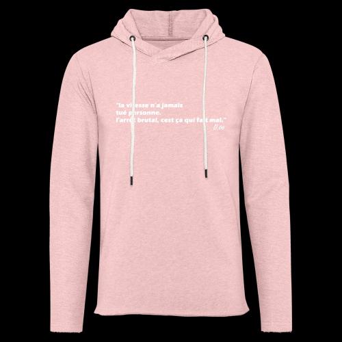 vitesse (blanc) - Sweat-shirt à capuche léger unisexe