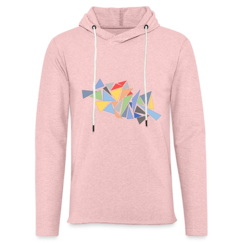 Modern Triangles - Light Unisex Sweatshirt Hoodie