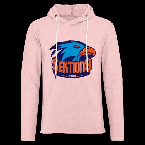 Orange/Blau - Leichtes Kapuzensweatshirt Unisex