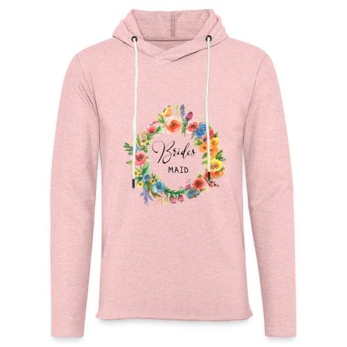 Team Bride Flower BRIDESMAID n°3 - Leichtes Kapuzensweatshirt Unisex