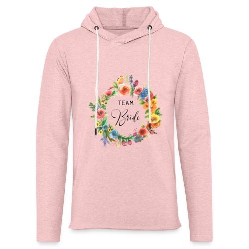 Team Bride BRAUT Flower n°2 - Leichtes Kapuzensweatshirt Unisex