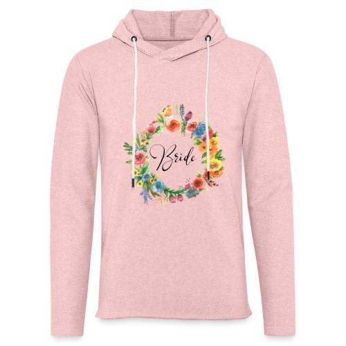 Team Bride BRAUT Flower n°1 - Leichtes Kapuzensweatshirt Unisex