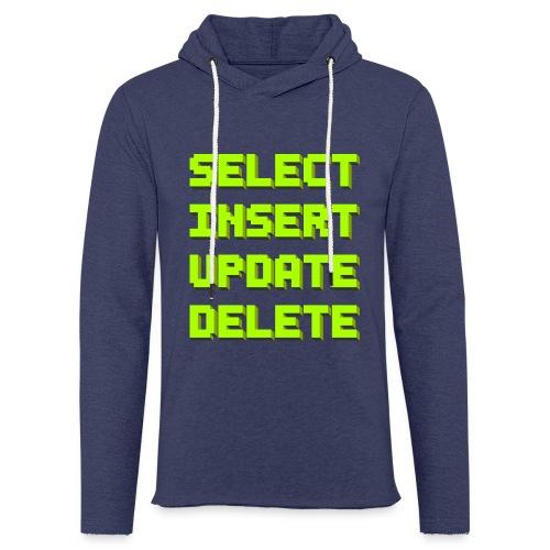 SQL pixelart black - Leichtes Kapuzensweatshirt Unisex
