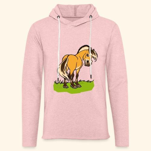Freundliches Fjordpferd (Ohne Text) - Sweat-shirt à capuche léger unisexe