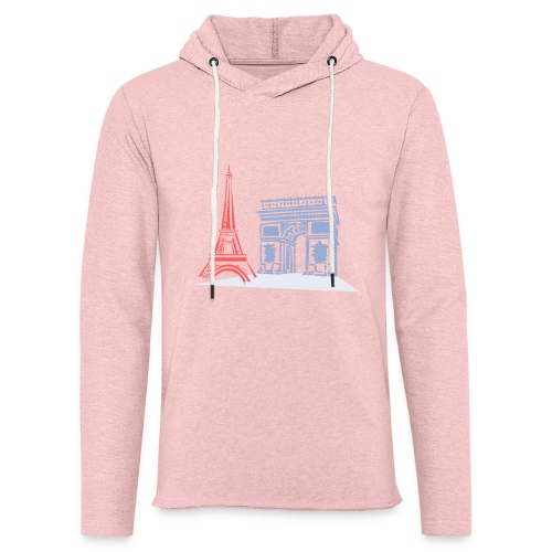 Paris - Sweat-shirt à capuche léger unisexe