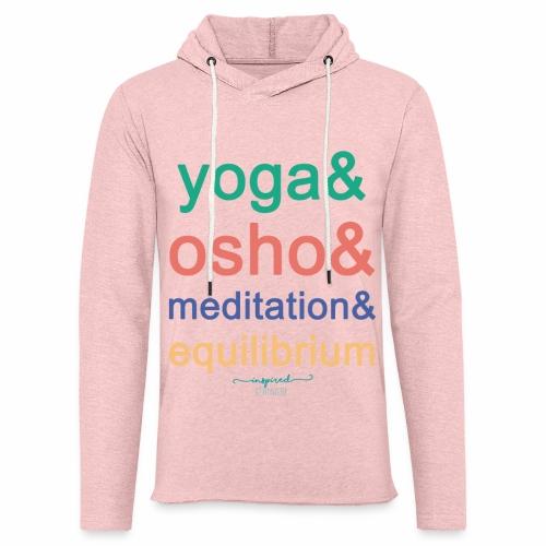 Yoga& Osho& Meditation& Equilibrium - Light Unisex Sweatshirt Hoodie