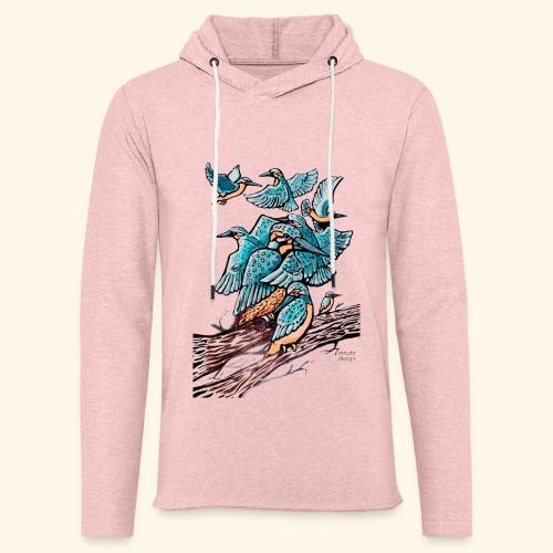 Eisvogel Rudel - Leichtes Kapuzensweatshirt Unisex