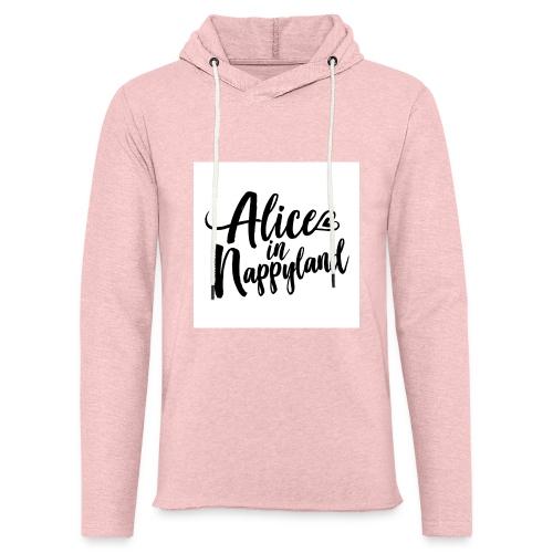 Alice in Nappyland Typography Black 1080 1 - Light Unisex Sweatshirt Hoodie