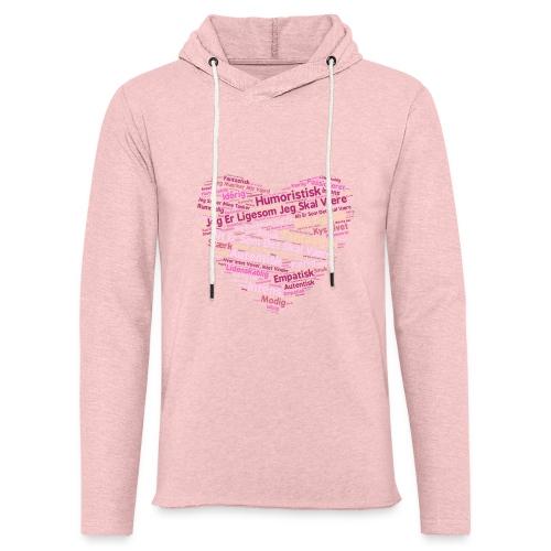 Hjerte - Let sweatshirt med hætte, unisex