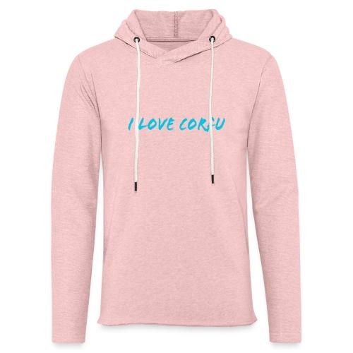 I Love Corfu Griechenland - Leichtes Kapuzensweatshirt Unisex