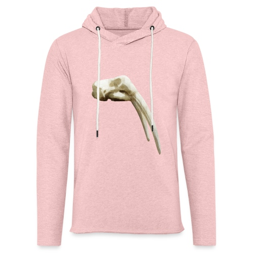 Schedel van een walrus - Lichte hoodie unisex