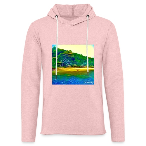 Tropical beach - Felpa con cappuccio leggera unisex