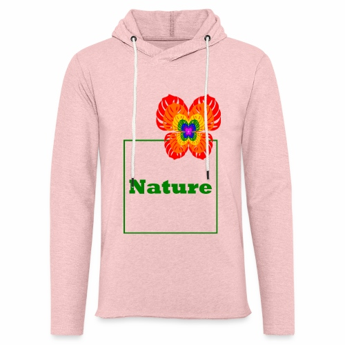 Nature - Butterfly / Flower / Monstera - Light Unisex Sweatshirt Hoodie