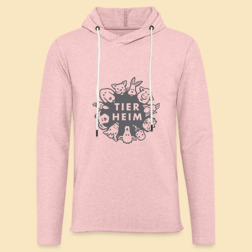 Tierheim Logo gray 75 - Leichtes Kapuzensweatshirt Unisex