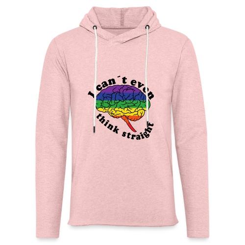 Ich kann nicht einmal klar denken | LGBT - Leichtes Kapuzensweatshirt Unisex