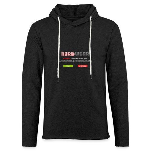 N3RD WEAR - Explicit - Leichtes Kapuzensweatshirt Unisex