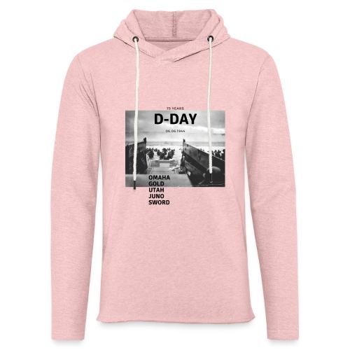 75 Jahre D-Day - Leichtes Kapuzensweatshirt Unisex