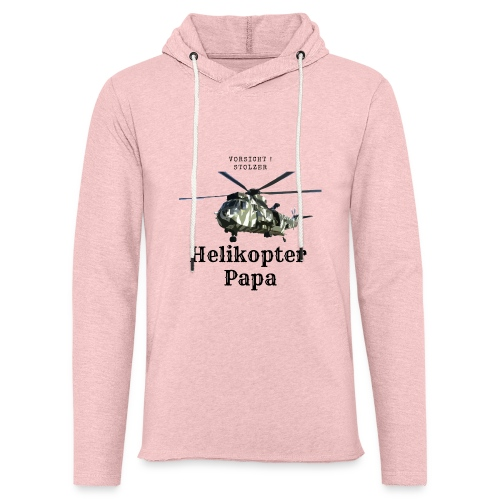 Stolzer Helikopterpapa - Leichtes Kapuzensweatshirt Unisex