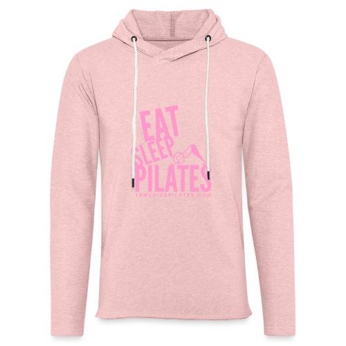 eat sleep pilates 2019 pink - Light Unisex Sweatshirt Hoodie