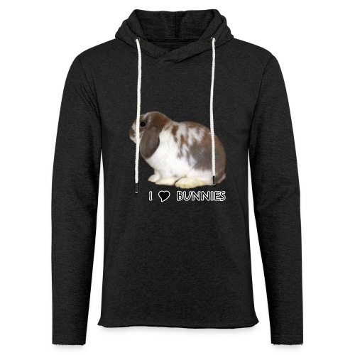 I Love Bunnies Luppis - Kevyt unisex-huppari