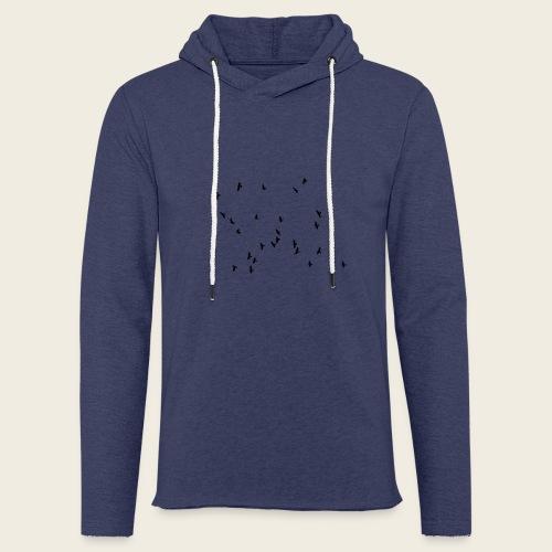 Flying birds - Let sweatshirt med hætte, unisex