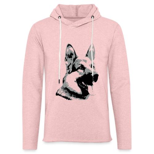 Dessin Chien Berger allemand 2 couleurs - Sweat-shirt à capuche léger unisexe