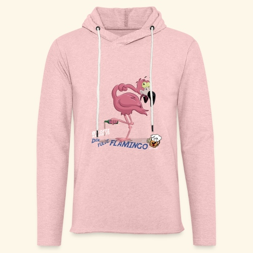Den fulde flamingo - Let sweatshirt med hætte, unisex