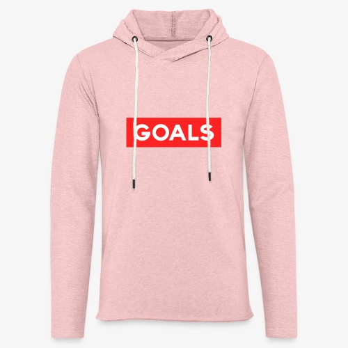 GOALS SQUARE BOX - Light Unisex Sweatshirt Hoodie