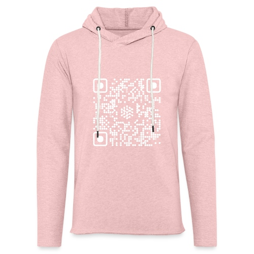 QR Safenetforum White - Light Unisex Sweatshirt Hoodie