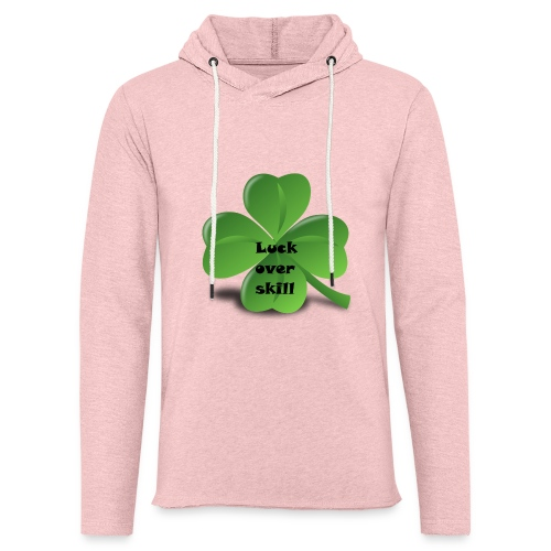Luck over skill - Lett unisex hette-sweatshirt