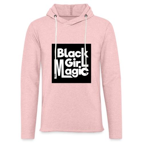 Black Girl Magic 2 White Text - Light Unisex Sweatshirt Hoodie