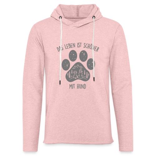 Leben mit Hund - Leichtes Kapuzensweatshirt Unisex