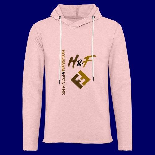 h&F luxury style - Felpa con cappuccio leggera unisex