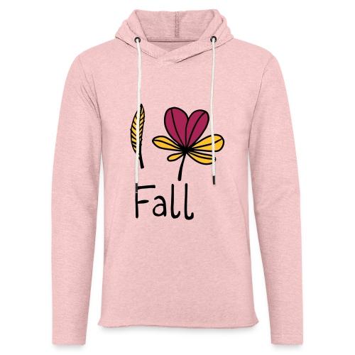 Fall in love - Leichtes Kapuzensweatshirt Unisex