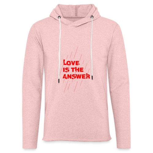 Love is the answer - Felpa con cappuccio leggera unisex