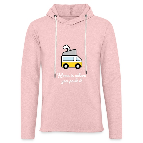 Home is where you park it - HELL - Leichtes Kapuzensweatshirt Unisex
