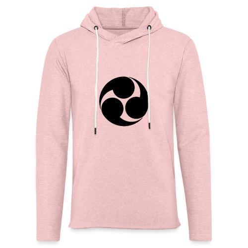 Kobayakawa Mon Japanese clan black - Light Unisex Sweatshirt Hoodie