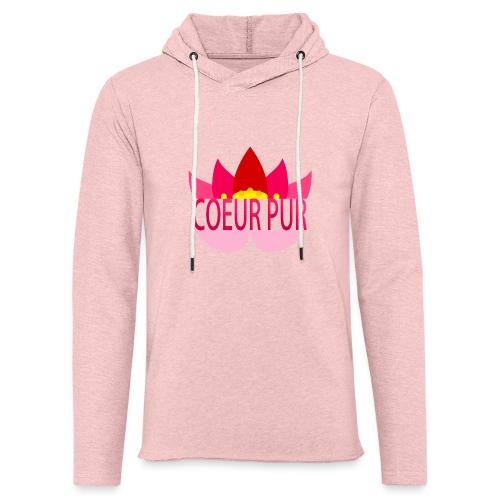 Lotus pur - Sweat-shirt à capuche léger unisexe
