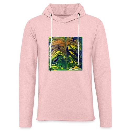 TIAN GREEN Mosaik DE029 - Lebensbaum - Leichtes Kapuzensweatshirt Unisex