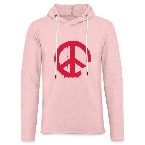 PEACE - Leichtes Kapuzensweatshirt Unisex