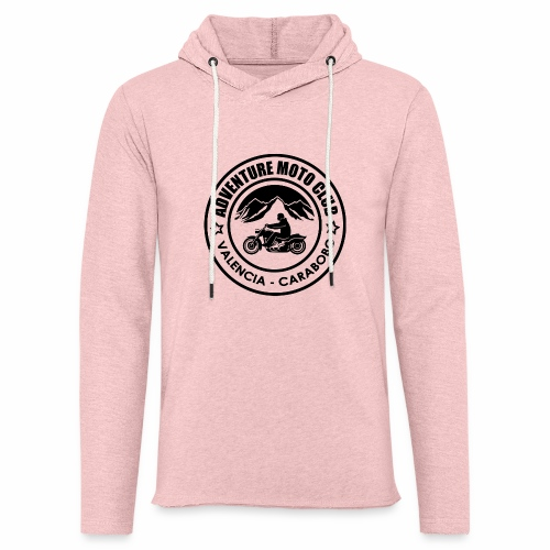 Black Adventure Moto Club - Leichtes Kapuzensweatshirt Unisex