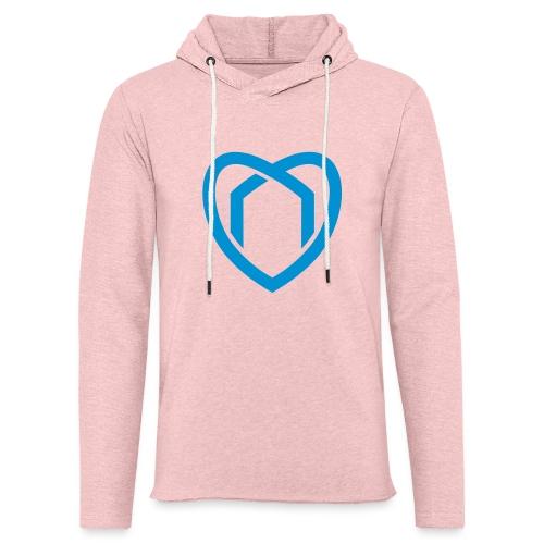 Blaue Haus Logo Herz - Leichtes Kapuzensweatshirt Unisex