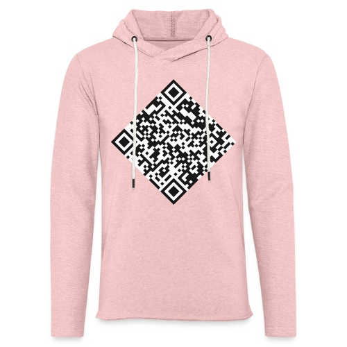 qr code pull - Sweat-shirt à capuche léger unisexe