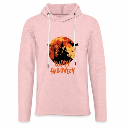 Bloodmoon Haunted House Halloween Design - Leichtes Kapuzensweatshirt Unisex