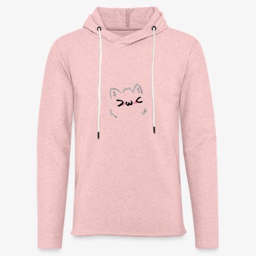 kawaii cat blush - Sweat-shirt à capuche léger unisexe