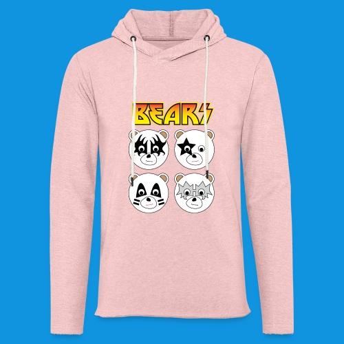 Kiss Bears square.png - Light Unisex Sweatshirt Hoodie